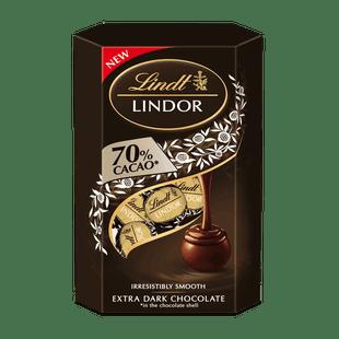LINDOR pralinky Hořká čokoláda 70% 200g