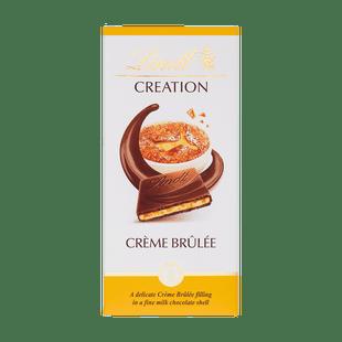 Lindt Creation Mléčná čokoláda s chutí Crème Brûlée, kousky karamelu a křupinek 150g