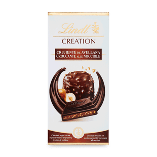 Lindt Creation Hořká čokoláda plněná lískooříškovou náplní 150g