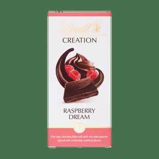 Lindt Creation Hořká čokoláda plněná jemnou malinovou náplní 150g