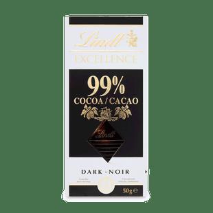 Lindt EXCELLENCE Extra hořká čokoláda 99% kakaa 50g