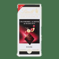 Lindt EXCELLENCE Hořká čokoláda s kousky brusinek 100g
