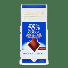 Lindt EXCELLENCE Mléčná čokoláda 55% kakaa 80g