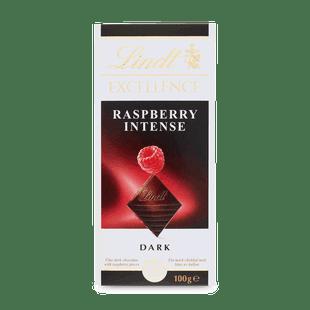 Lindt EXCELLENCE Hořká čokoláda s kousky malin 100g