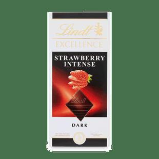 Lindt EXCELLENCE Hořká čokoláda s kousky jahod 100g