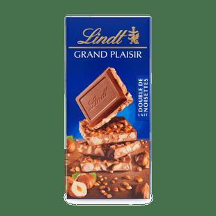 Mléčná čokoláda Grand Plaisir s dvojitou porcí lískových oříšků 150g