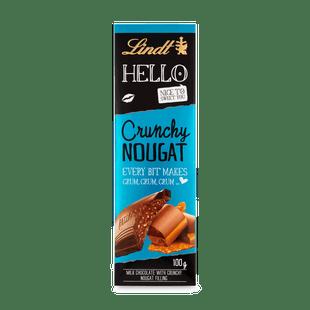 Lindt Hello mléčná čokoláda s náplní Křupinek a Nugátu 100g