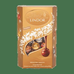 LINDOR zlatá směs pralinek s jemnou krémovou náplní 337g