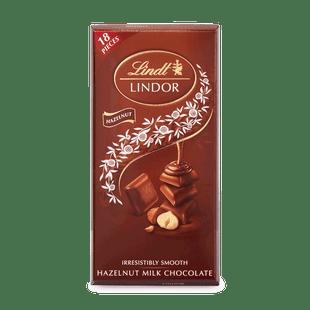 LINDOR tabulka Mléčná čokoláda s lískooříškovou krémovou náplní 100g