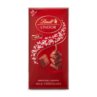 LINDOR tabulka Mléčná čokoláda s krémovou náplní 100g