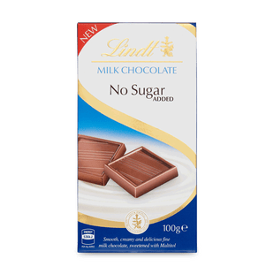 Lindt Mléčná čokoláda bez přidaného cukru 100g