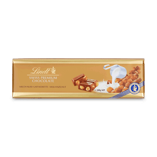 Lindt Švýcarská Mléčná čokoláda s lískovými oříšky 300g