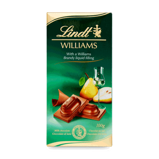 Mléčná čokoláda Lindt s hruškovicí hrušek odrůdy Williams 100g
