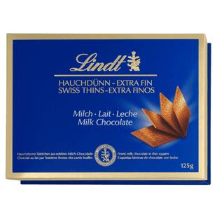 Lindt Thins Milk mléčná čokoláda 125g